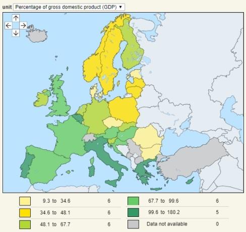 eurostats debt map 2019